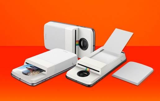 Motorola иPolaroid встроили фотопринтер взаднюю крышку для телефонов